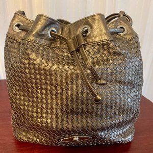 Super Fun Gold Slouchy Bag